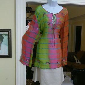 Newport news ladies super sheer blouse